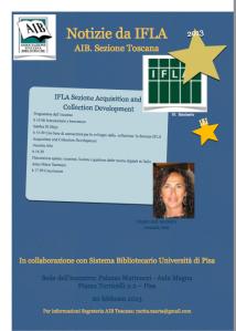 Notizie da IFLA 10-2013